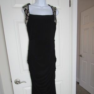 Black Silver Dress Gown Prom Homecoming Cache Sz 8